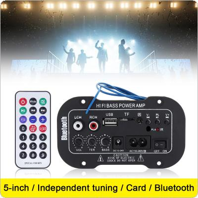 5Inch 25W HI-FI Bluetooth Car Audio Power Amplifier FM Radio Player Support/ SD / USB / DVD / MP3 Input for Car Motorcycle Home