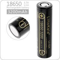 LiitoKala Lii-32A 18650 3200mAh 3.7V Rechargeable Li-ion Battery with 10A Discharge Current for Flashlights / Headlamps / Bicycle Lamps