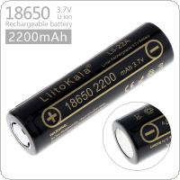 LiitoKala Lii-22A 18650 2200mAh 3.7V Rechargeable Li-ion Battery  with 10A Discharge Current for Flashlights / Headlamps / Bicycle Lamps