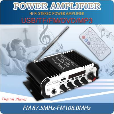 2CH HI-FI Bluetooth Car Audio Power Amplifier FM Radio Player Support SD / USB / DVD / MP3 Input for Car Motorcycle Home