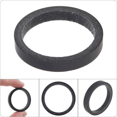 "5mm High Strength Full Carbon Fibre Bike Fork Headset Spacer Road Mountain Bicycle for 1 1/8""(28.6mm) Stem"
