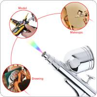 TD-130K 7CC Gravity Double Action Airbrush Kit Spray Gun Power Tools with Nylon Tube / Needle and 0.2/0.3/0.5mm Nozzle for Process Craft