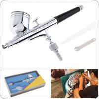 TD-130A 0.3MM 7CC Capacity Pneumatic Double Acting Airbrush with Wrench and Dropper for Art / Craft Projects / Car Painting