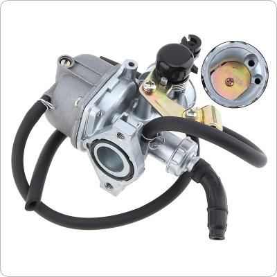 PZ19mm 31mm Curved Pipe Motorcycle Carburetor with Two Black Hose and Bracket for 50cc 70cc 80CC 90CC 110cc  ATV Dirt Bike Go Kart