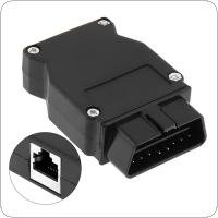 OBD-II 16Pin Male Extension Opening Cable Car Diagnostic Interface Connector PLug with Cable Plug Mouth