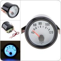 "6034BL  2"" 52mm  12V  Blue LED  40~120 Celsius Degree  Water Temperature Meter Gauge with Sensor for Car / Boat / Truck / ATV"