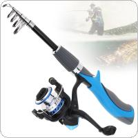 1.4M Mini Portable Rod Combo Telescopic Ice Rock Fishing Rod + Spinning Fishing Reel