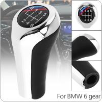 6 Speed ABS Plastic + Leather Chrome Silver  Manual Car Gear Shift HandBall Knob Fit for BMW 1 / 3 / 5 / 6 Series / 6 Gear Models
