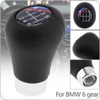 6 Speed ABS Plastic + Leather Black Car Manual Gear Shift Handball Knob Fit for BMW 1 / 3 / 5 / 6 Series / 6 Gear Models