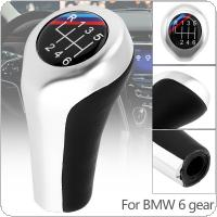 6 Speed ABS Plastic + Leather Chrome Silver  Car Manual Gear Shift Handball Knob For BMW 1 / 3 / 5 / 6 Series / 6 Gear Models