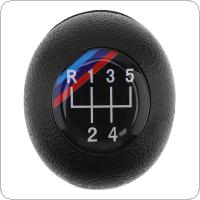5 Speed ABS Plastic + Leather Black Car Manual Gear Shift Handball Knob Fit for BMW 1 / 3 / 5 / 6 Series / 5 Gear Models