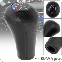 5 Speed ABS Plastic + Leather Black Car Manual Gear Shift Handball Knob for BMW 1 / 3 / 5 / 6 Series / 5 Gear Models