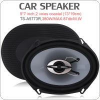 TS-A5773R 5*7 Inch 380W Car HiFi Coaxial Speaker Vehicle Door Auto Audio Music Stereo Full Range Frequency Speakers for Cars