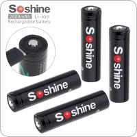 Soshine 4pcs 3.7V 9.62WH NCR 18650 2600mAh Li-ion Rechargeable Battery with Micro USB Protected and DC Charging Intelligent Cell for Flashlight / Headlamp