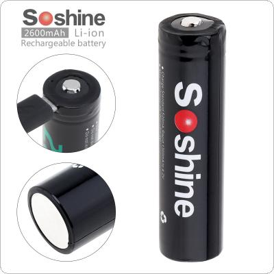 Soshine 3.7V 9.62WH NCR 18650 2600mAh Li-ion Rechargeable Battery with Micro USB Protected and DC Charging Intelligent Cell for Flashlight / Headlamp / Bicycle