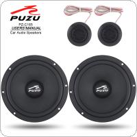 PZ-C165 2Pcs 6.5 Inch 180W Car Coaxial Full Range Frequency Stereo Speaker with Tweeter and Frequency Divider for Cars