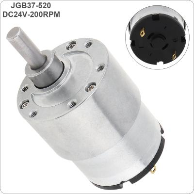 37GB-520 DC24V 200RPM Mini Reducer Motor with Metal Gear and High Torque for Smart Toilet / Robot