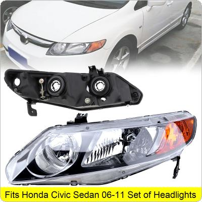 1Pcs Waterproof Durable Left Passenger Side Headlight for 2006-2011 Honda Civic