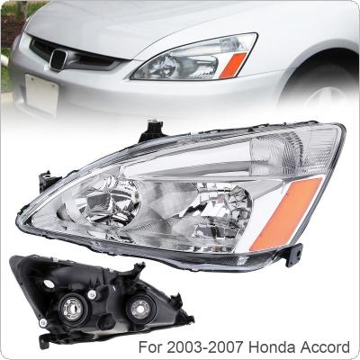 1Pcs Waterproof Durable Passenger Side / Left Side Headlight for 2003-2007 Honda Accord
