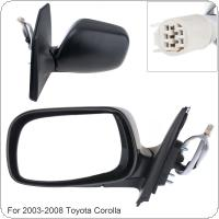 Non-Folding Durable Left Side Mirror Left Hand LH Mirror for 2003-2008 Toyota Corolla CE / LE/ S/ Sport/ XRS Sedan 4-Door