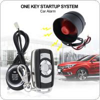 Universal Car Alarm System Remote Start Stop Engine System with Auto Central Lock and Keyless Entry 5A with Key 2