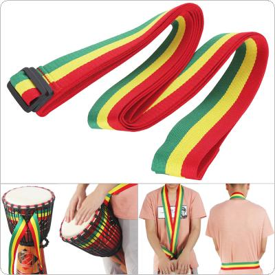 Adjustable Rainbow African Drum Cotton Strap 5cm Width Djembe Drum Tambourine Shoulder Waist Belt