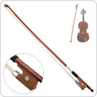 4/4 Violin Bow Horsehair Wood Stick Plastic Handle Fiddle Bow Violin Accessories Instruments