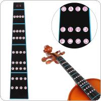 4/4 Violin Fingerboard Sticker Fretboard Indicator Note Label Fingering Chart Violin Parts Accessories for Beginners Practice