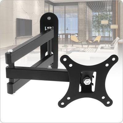 Universal 10KG Adjustable TV Wall Mount Bracket Flat Panel TV Frame Support 10 Degrees Tilt with Small Wrench for 10 - 26 Inch LCD LED Monitor Flat Pan
