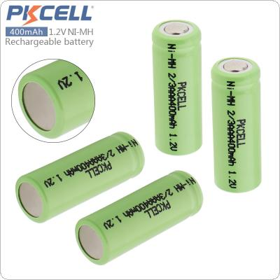 Pkcell 4pcs 2/3AAA 400mAh 1.2V Ni-MH LSD Rechargeable Battery with Safety Relief Valve for Toys / Alarm / Clock / Wireless Mouse / Game Handle