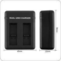 Dual Port AHDBT-501 Battery Charger with USB Cable and Smart Charging for GoPro Hero 5 Camera Battery