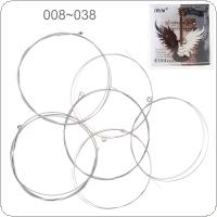 6pcs/set Electric Guitar String 008-038 Inch Steel Core Nickel Alloy with Nickel-Plated Ball-End