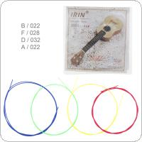 4pcs / set Ukulele String 022-032 Inch Colorful Nylon with Full Bright Tone