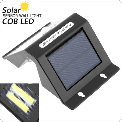 Outdoor Waterproof LED Rechargeable Solar Power PIR Motion Sensor Wall Light with Light Sensation for Garden / Yard / Driveway