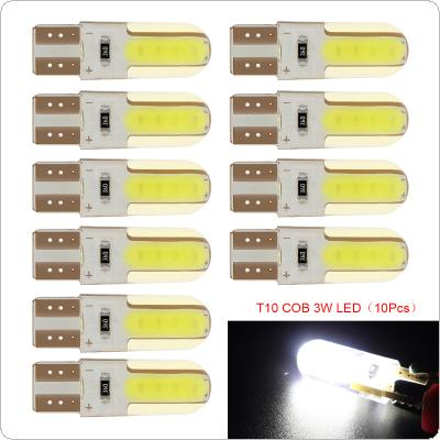 10PCS  12V  T10  LED Car Interior Light Silica Gel COB Lamp  194 501 Side Wedge Parking Bulb Remote Width Interior Lighting Source Car Styling