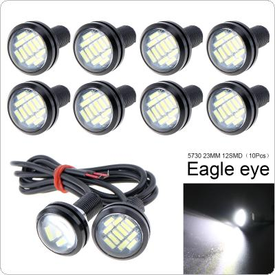 10 Pcs 23mm Eagle Eye High Power 4014 12SMD White 12V Car Fog DRL Bulb Reverse Backup Parking Signal