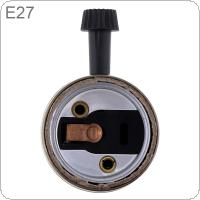 250W 110-250V E27 A 28.BV Socket Bronze Color Edison Retro Pendant Lamp with Knob Switch Holder Without Wire