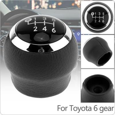 6 Speed ABS Plastic + PU Leather Manual Transmission Gear Shift Handball Knob Fit for Toyota / Corolla 1.8MT 2007-2013 6 Gear Models