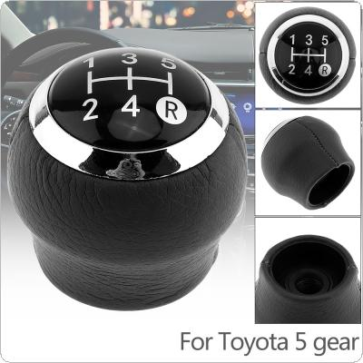 5 Speed ABS Plastic + PU Leather Manual Transmission Gear Shift Handball Knob Fit for Toyota / Corolla 1.8MT 2007-2013 5 Gear Models