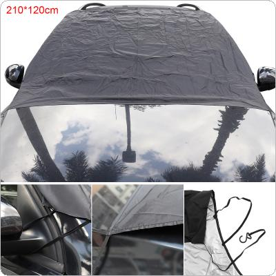 Universal Front Windshield Double-sided Availability Polyester Umbrella Cloth + Silver Coating Snow / Frost / Fog / Sun Protection Car Clothing Cover with Hooks