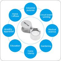 30X 21mm Metal + Optical Glass Lens Silvery Foldable Portable Magnifier for Reading / Jewelry