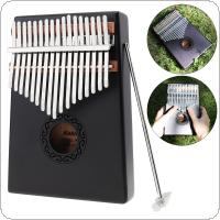 17 Key Gray Kalimba Single Board Mahogany Thumb Piano Mbira Mini Keyboard Instrument with Complete Accessories
