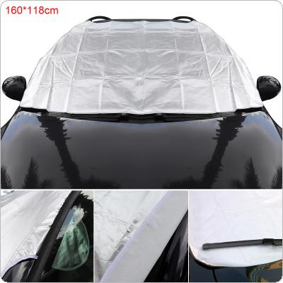 L Universal Thick Front Windshield Double-sided Availability Aluminum Foil Composite Cotton Ice / Snow / Frost / Fog / Sun Protection Car Clothing Cover