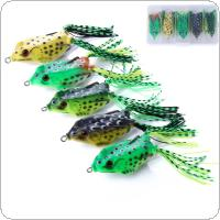 5pcs/lot Soft Frog Lure Silicone Bait 5 Colors Mixed 12g Fishing Lure Wobblers Artificial Bait with Box