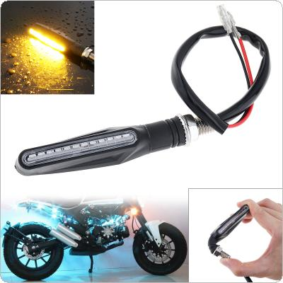Universal Flowing Waterproof Motorcycle Motorbike LED Turn Signal Indicator Amber Light
