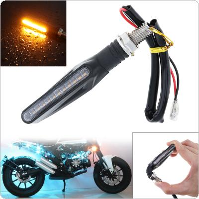 Universal 2835SMD Flowing Waterproof Motorcycle Motorbike LED Turn Signal Indicator Amber Light