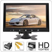 9 Inch 16:9 HD 1024*600 TFT LCD Color Car Rear View Monitor 2 Video Input DVD VCD Headrest Vehicle Monitor Support Audio Video HDMI VGA