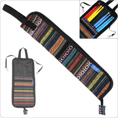Portable Folk Style Knitted Drum Stick Gig Bag Drumsticks Storage Case Percussion Instruments Accessories