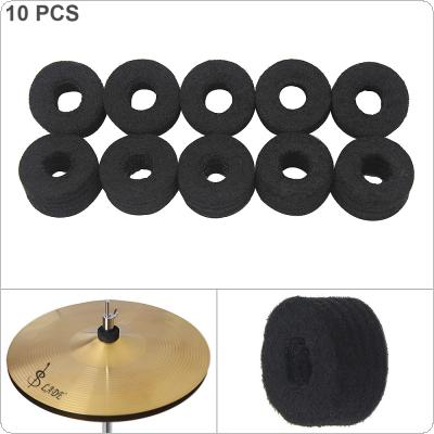 10pcs/lot Black Cymbal Felt Pads Thickened Protection Pad Percussion Accessories Kit