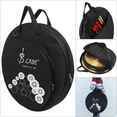 Three Pockets Cymbal DrumSticks Storage Bag Protable Gig Shoulder Bag for 8-20 Inch Cymbal and Drum Sticks
